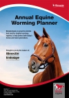 Annual Equine Worming Wall Planner